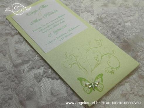 zelena pozivnica s leptirom