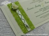 Pozivnica za vjenčanje Green Rose Harmony