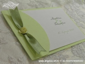 Pozivnica za vjenčanje Vintage Satin Green