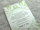Pozivnica za vjenčanje Modern Green Line