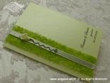 zelena zahvalnica za vjenčanje s kalom i zelenim sisalom