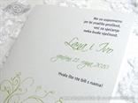 zelena zahvalnica za vjenčanje s leptirom
