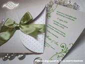 Pozivnica za vjenčanje Green Dots Mini Beauty