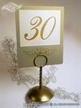 zlatan broj stola za stalak s 3D ornamentom