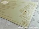 Pozivnica za vjenčanje Golden Damask Line