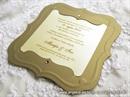 Pozivnica za vjenčanje - Golden Frame Shape