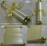 invitation for baptism in a form of a scroll