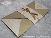 Pozivnica za vjenčanje Gold Letter