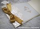 Pozivnica za vjenčanje Vintage Gold