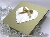 Pozivnica za vjenčanje - Gold Heart Shaped