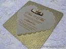 Pozivnica za vjenčanje - Ornamented Golden Heart