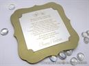 Pozivnica za vjenčanje Golden Shape