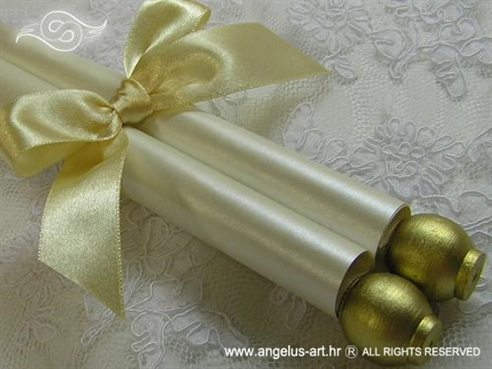 golden scroll invitation for baptism