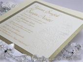 Pozivnica za vjenčanje Gold Rose Line