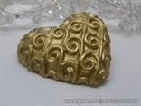 zlatno srce magnet konfet za vjenčanje s krivuljama